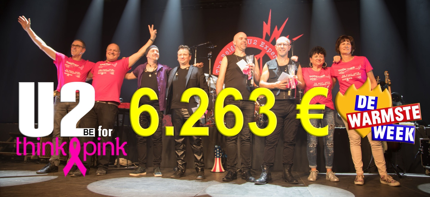 "Recordopbrengst 4° editie ""U2be for Think Pink"""